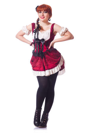 Young woman in traditional german costume Stock Photo - 19511641