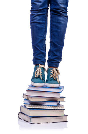 Climbing the steps of knowledge - education concept Stock Photo - 19329033