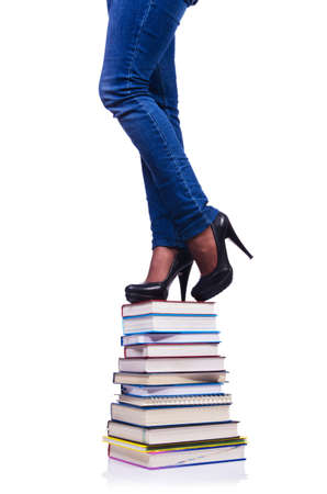 Climbing the steps of knowledge - education concept Stock Photo - 19324749
