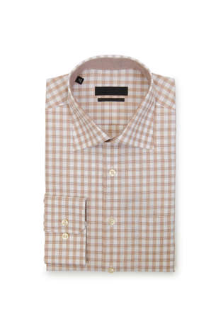 Nice male shirt isolated on the white Stock Photo - 19330948