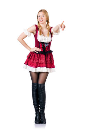 german girl: Young woman in traditional german costume