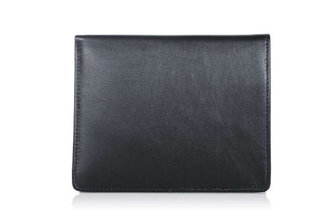 Leather wallet isolated on the white Stock Photo - 19331140