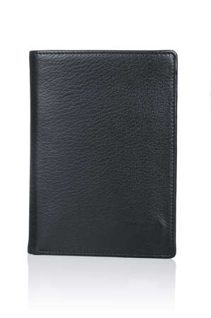 Leather wallet isolated on the white Stock Photo - 19330967