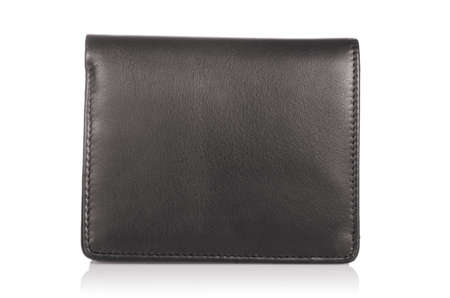 Leather wallet isolated on the white Stock Photo - 19330923