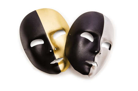 Shiny masks isolated on white background Stock Photo - 19330891