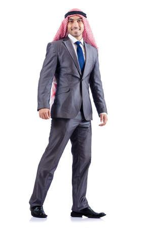 Arab businessman isolated on the white Stock Photo - 19498718