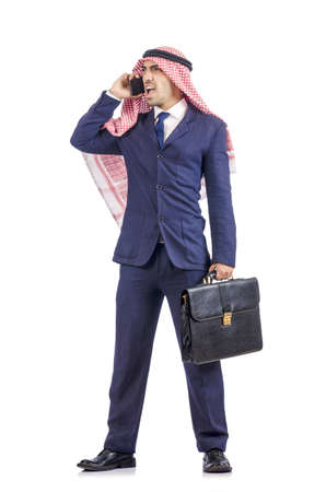 Arab businessman isolated on white Stock Photo - 19492336