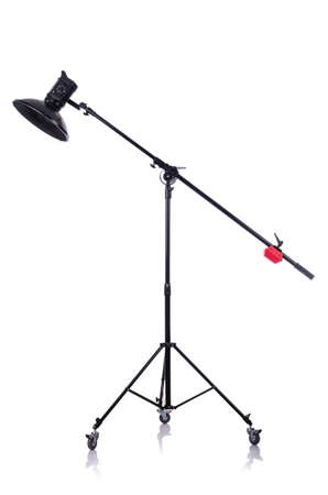 Studio light stand isolated on the white Stock Photo - 19330883