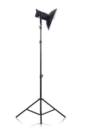 Studio light stand isolated on the white Stock Photo - 19330882