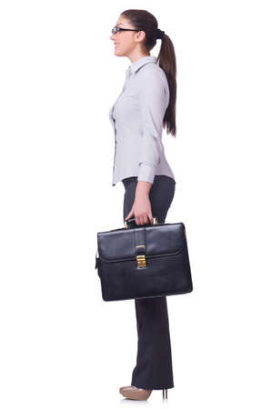 Businesswoman isolated on the white background Stock Photo - 19531457