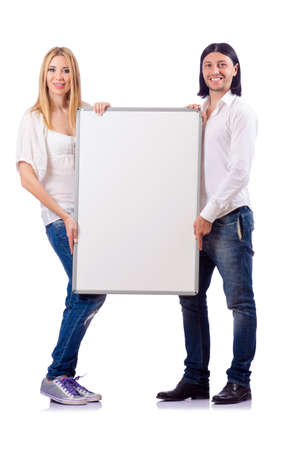 Pair of blank board isolated on white Stock Photo - 19479023