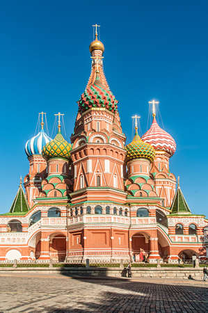 Famous st Vasily Blessed cathedral in Moscow Stock Photo - 19482802