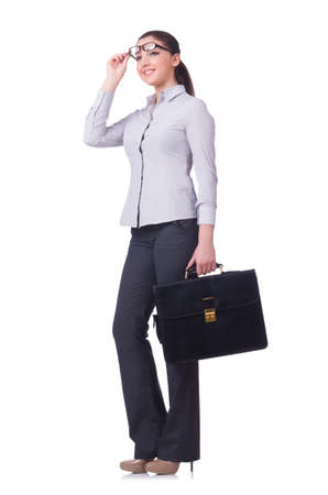 Businesswoman isolated on the white background Stock Photo - 19496038