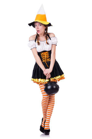 German girl in traditional festival clothing Stock Photo - 19433633