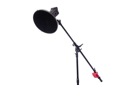 Studio light stand isolated on the white photo