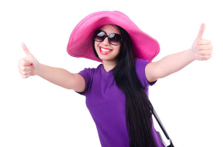 Young woman ready for summer vacation Stock Photo - 19513149