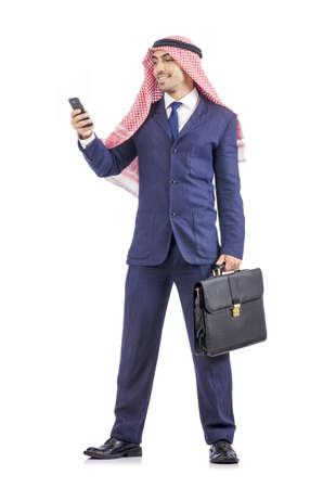 Arab businessman isolated on white Stock Photo - 19513108