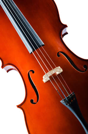 celllos: Violin isolated on the white background