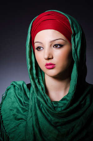 Muslim woman with headscarf in fashion concept Stock Photo - 19675187