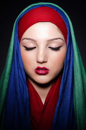 Muslim woman with headscarf in fashion concept Stock Photo - 19675166