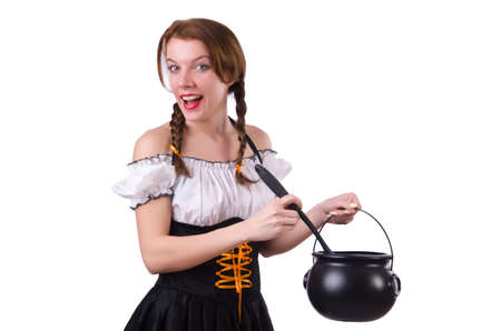 German girl in traditional festival clothing photo