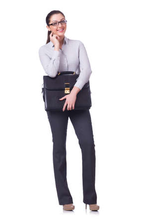 Businesswoman isolated on the white background Stock Photo - 20083424