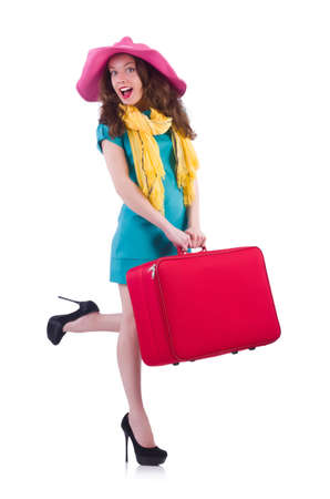 Young woman preparing for vacation Stock Photo - 20102106