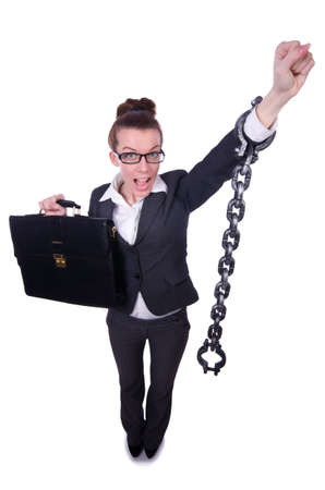 Woman with hands and handcuffs Stock Photo - 20258759