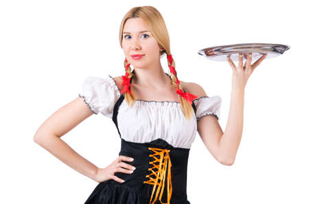 German girl in traditional festival clothing Stock Photo - 20258767