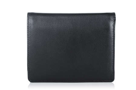 Leather wallet isolated on the white photo