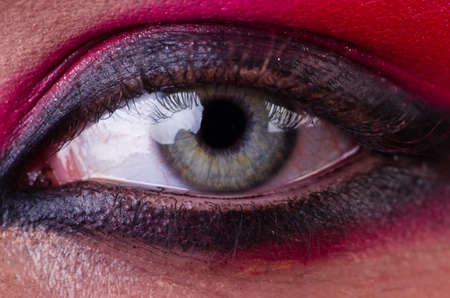 Close-up  of eye with nice make-up Stock Photo - 21110162