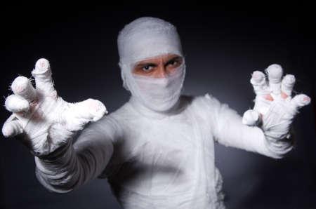 mummified: Mummy in the halloween concept