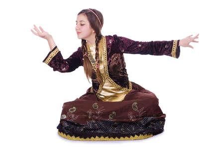 Young lady dancing traditional azeri dance Stock Photo - 21110212