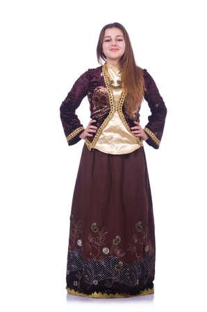 Young lady dancing traditional azeri dance Stock Photo - 20080260