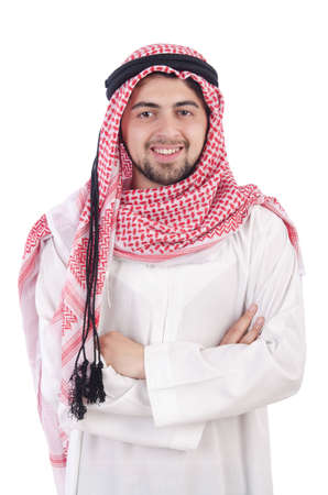 Young arab isolated on the white background photo