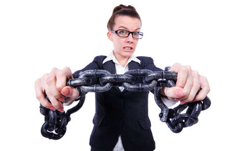 Woman with hands and handcuffs Stock Photo - 20080581