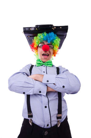Clown businessman isolated on white Stock Photo - 20080587