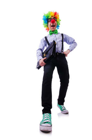 Clown businessman isolated on white Stock Photo - 20574368