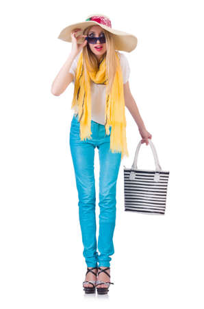Young woman in summer clothing Stock Photo - 21058703