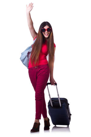 Woman preparing for summer vacation photo
