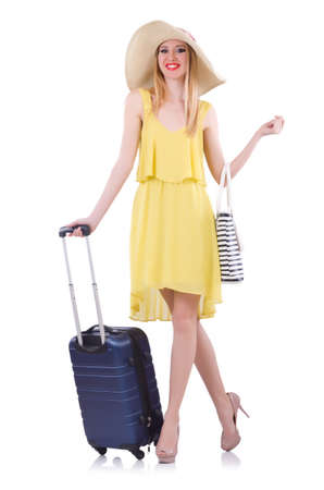 Young woman preparing for vacation Stock Photo - 21087043
