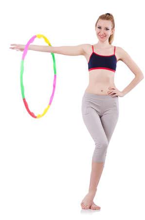 Woman doing exercises Stock Photo - 21084526