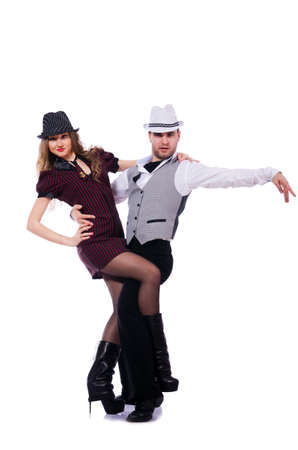 Pair of dancers dancing modern dances Stock Photo - 21747099