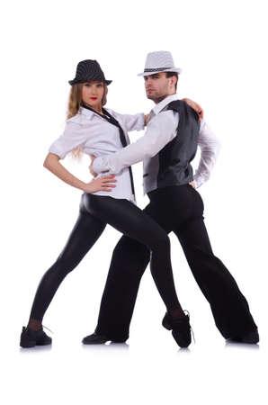 Pair of dancers dancing modern dances Stock Photo - 22047146