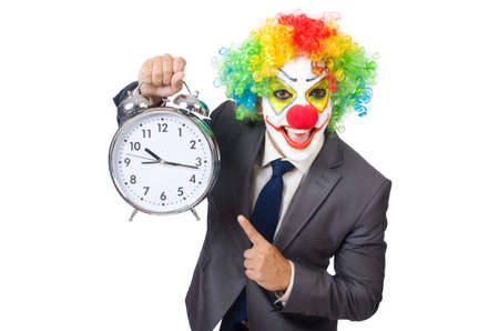 Businessman clown isolated on white Stock Photo - 22277903