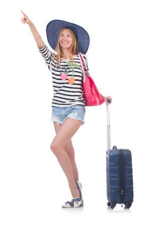 Young woman preparing for vacation Stock Photo - 22278079