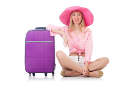 Woman preparing for travel on summer vacation Stock Photo - 22328506