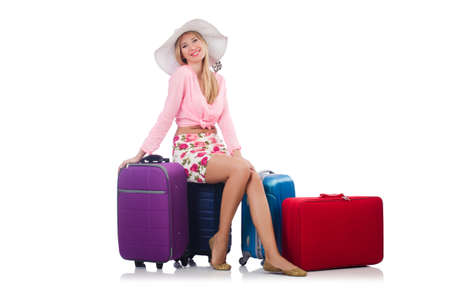 Woman preparing for travel on summer vacation Stock Photo - 22328529