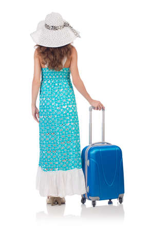Woman preparing for travel on summer vacation Stock Photo - 22459302