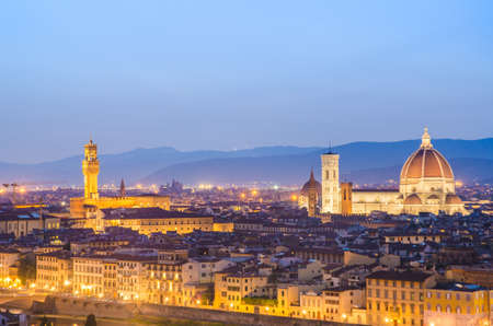 Florence cityscape in dusk hours Stock Photo - 22872933